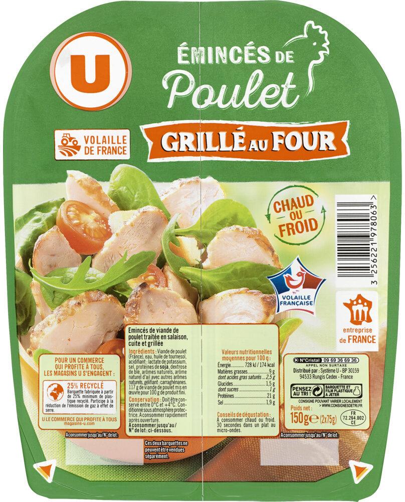 Emincés de poulet traité en salaison cuite et grillé - Prodotto - fr