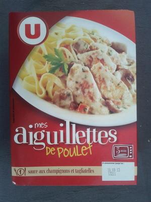 mes aiguillettes de Poulet, sauce aux champignons et tagliatelles - Product