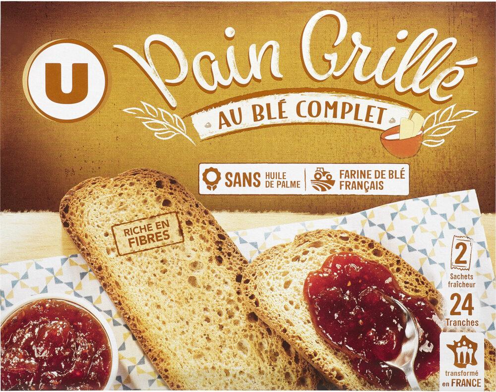 Pain grillé au blé complet - Produit - fr