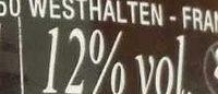Crémant d'Alsace AOP brut Rosenhof - Informations nutritionnelles - fr