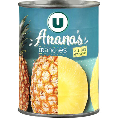 Ananas tranches entières pur jus - 26
