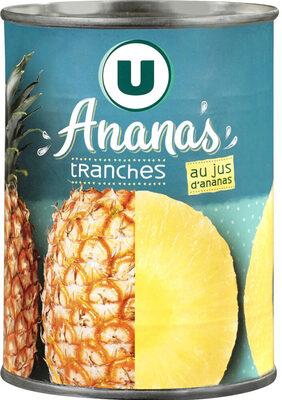 Ananas tranches entières pur jus - Produit