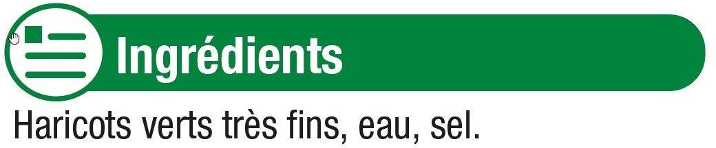 Haricots verts très fins - Ingredients