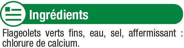 Flageolets verts fins - Ingrédients - fr