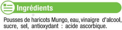 Pousses de haricots mungo - Ingredients