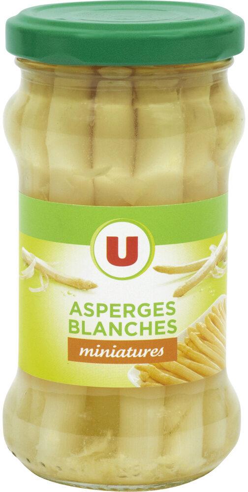 Asperges blanches pelées miniatures - Product - fr