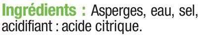 Asperges blanches pelées miniatures - Ingredients - fr