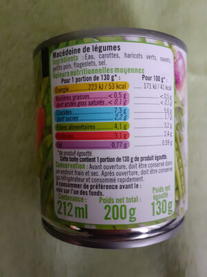 Macedoine de legume - Ingrédients - fr