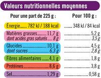 Gratin de choux fleurs - Informations nutritionnelles - fr