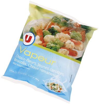 Légumes Vapeur chou fleur, chou romanesco, brocolis et carottes - Product