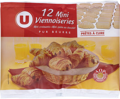 Mini viennoiseries pur beurre prêt a cuire - Product