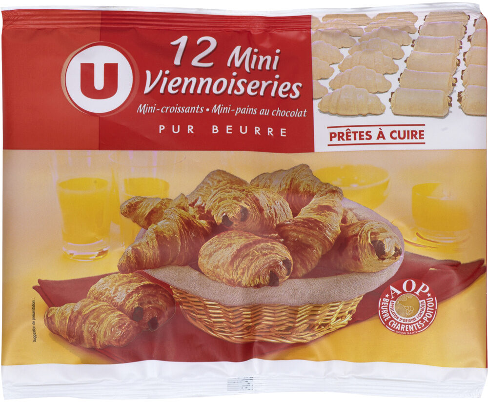 Mini viennoiseries pur beurre prêt a cuire - Product - fr