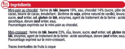 Mini viennoiseries pur beurre prêt a cuire - Ingredients - fr