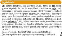 Cônes à la vanille - Ingredients