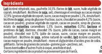 Cônes chocolat - Ingrediënten