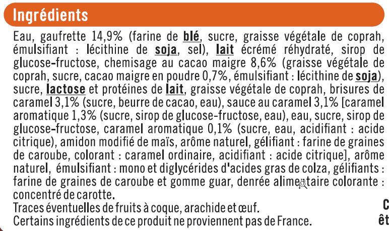 Cônes crème brûlée - Ingrediënten
