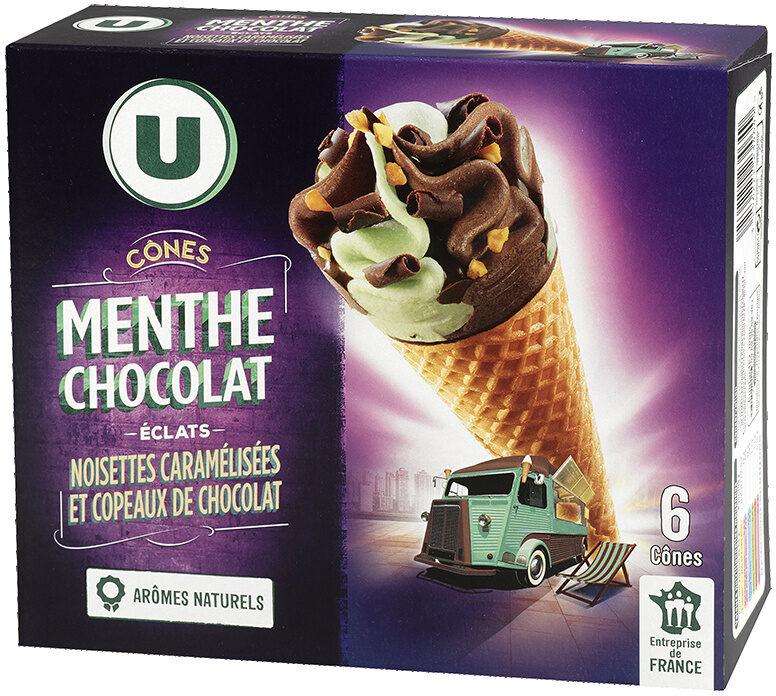 Cônes menthe chocolat - Product