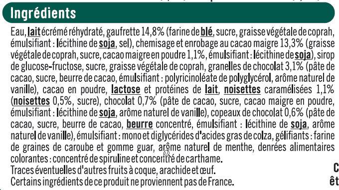 Cônes menthe chocolat - Ingrediënten