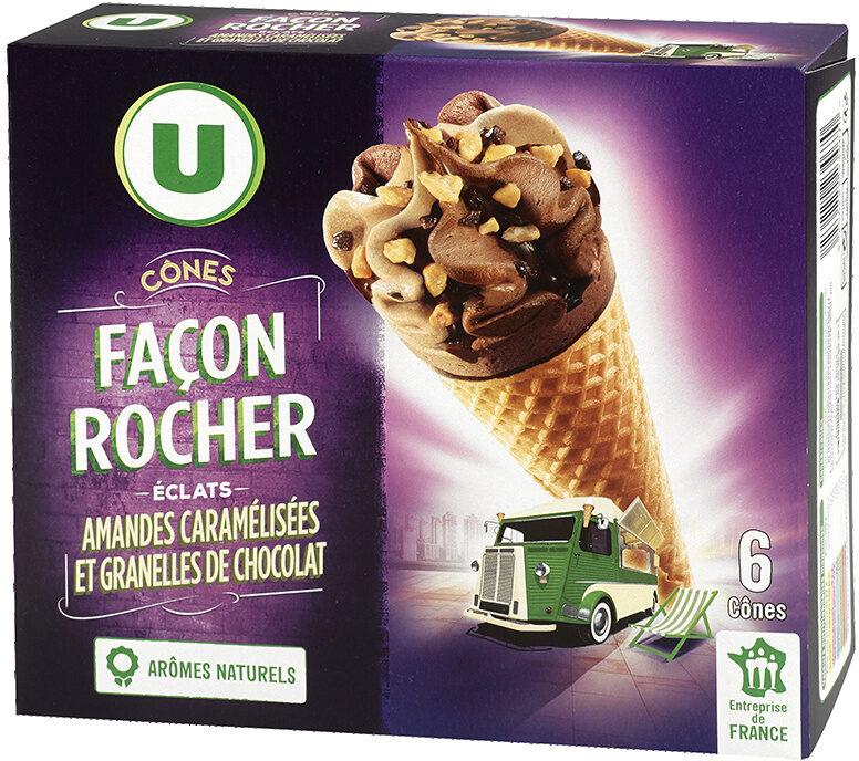 Cônes façon rocher (noisette et chocolat), - Product