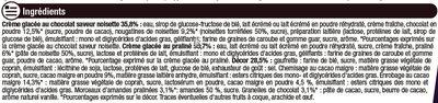 Cônes façon rocher (noisette et chocolat), - Ingredients