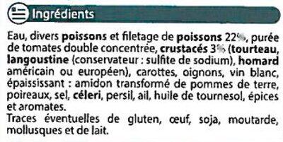 Soupe de poisson - Ingredients