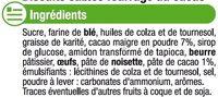 Sablés fourrés au cacao - Ingredients