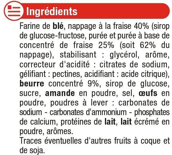 Tartelettes carrées à la fraise - Ingrediënten - fr