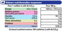 Edulcorant De Table En Poudre - Informations nutritionnelles - fr