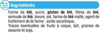 Croûtons à tartiner Nature - Ingrediënten