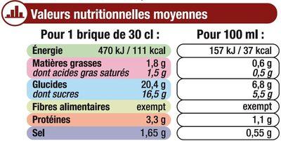 Velouté de tomate et vermicelles - Informations nutritionnelles - fr