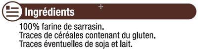 Farine de sarrasin - Ingrédients