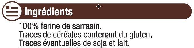 Farine de sarrasin - Ingrédients - fr