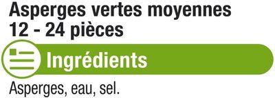Asperges Vertes moyennes - Ingredients - fr