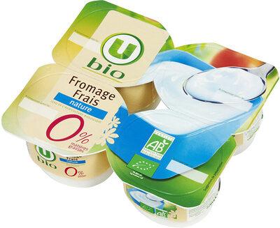 Fromage frais nature au lait pasteurisé  0% de MG - Product