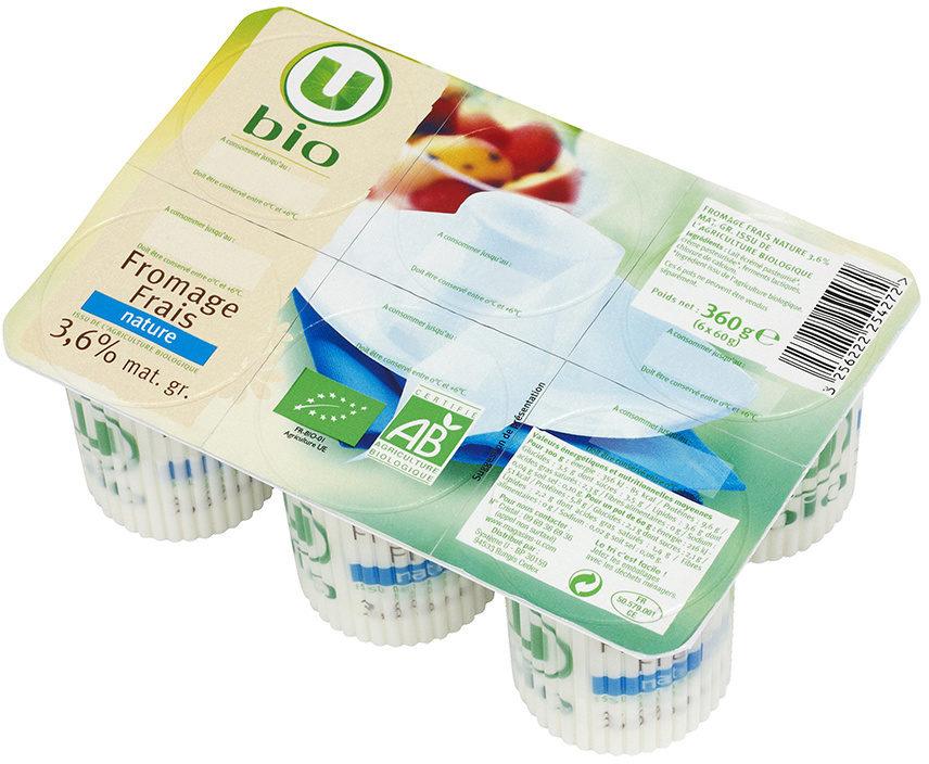Fromage frais nature au lait pasteurisé  6% de MG - Product