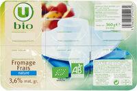 Fromage frais nature au lait pasteurisé 6% de MG - Prodotto - fr