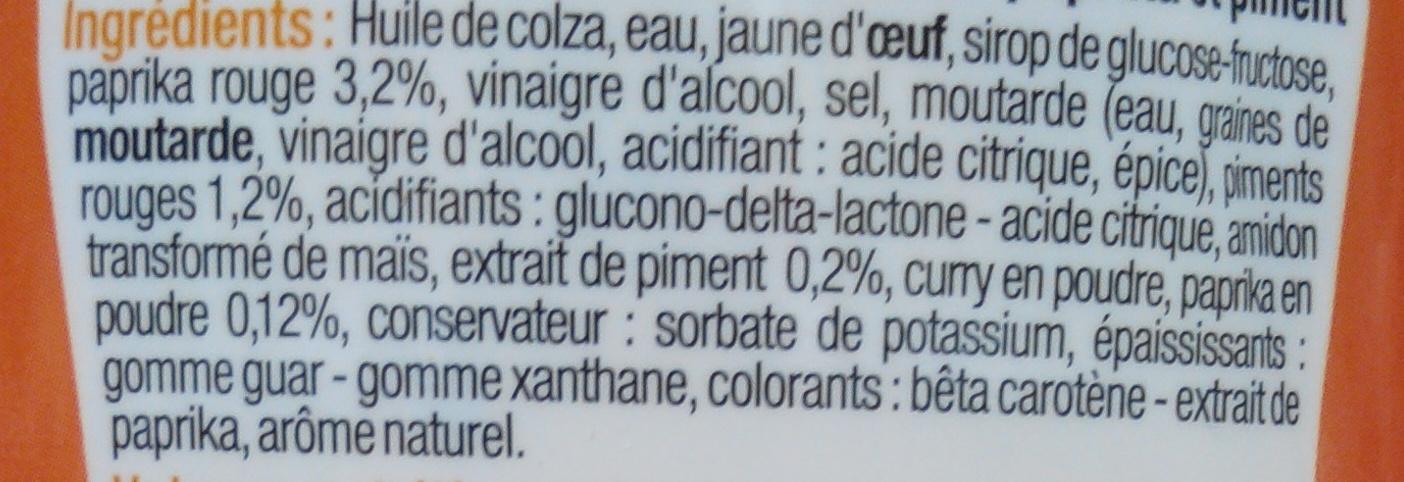 Sauce Samourai - Ingredients - fr
