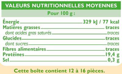 Crevettes entières crues - Voedingswaarden - fr