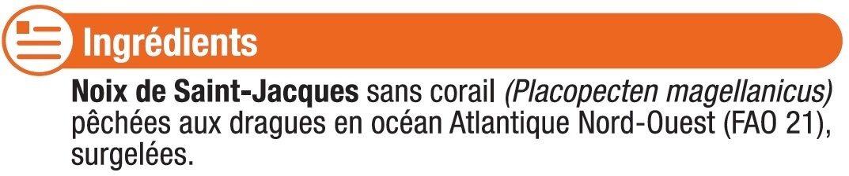 Noix de St Jacques sans corail pêchés en Atlantique - Ingrédients