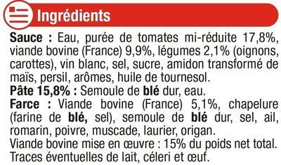 Ravioli à la bolognaise - Ingrediënten