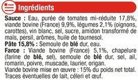 Ravioli à la bolognaise - Ingrédients - fr