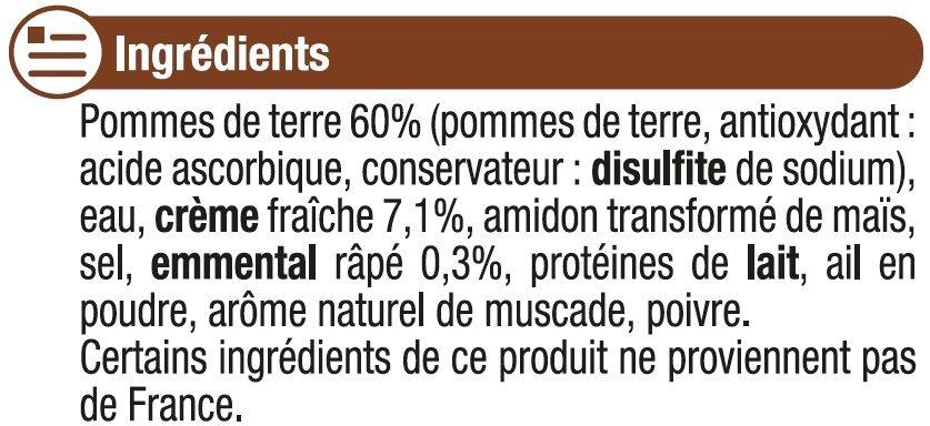 Gratin Dauphinois - Ingrédients - fr