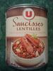 Saucisses lentilles Cuisinées à la Graisse de Canard - 840 g - U - Produit