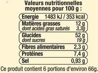 Couronne des rois briochée aux pépites de chocolat au lait - Voedingswaarden - fr