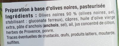 Tapenade Noire - Ingrediënten