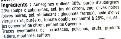 Caviar d'Aubergine - Ingrédients