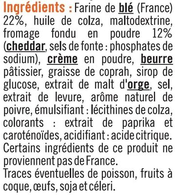 Mini crêpes fourrées au fromage cheddar - Ingrediënten