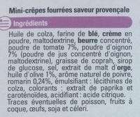 Mini-crêpes fourrées provençale - Ingrediënten