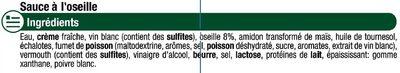 Sauce liquide à l'oseille - Ingredients - fr