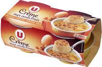 Desserts lactés à la crème aux oeufs frais saveur caramel et fleur desel - Produit - fr